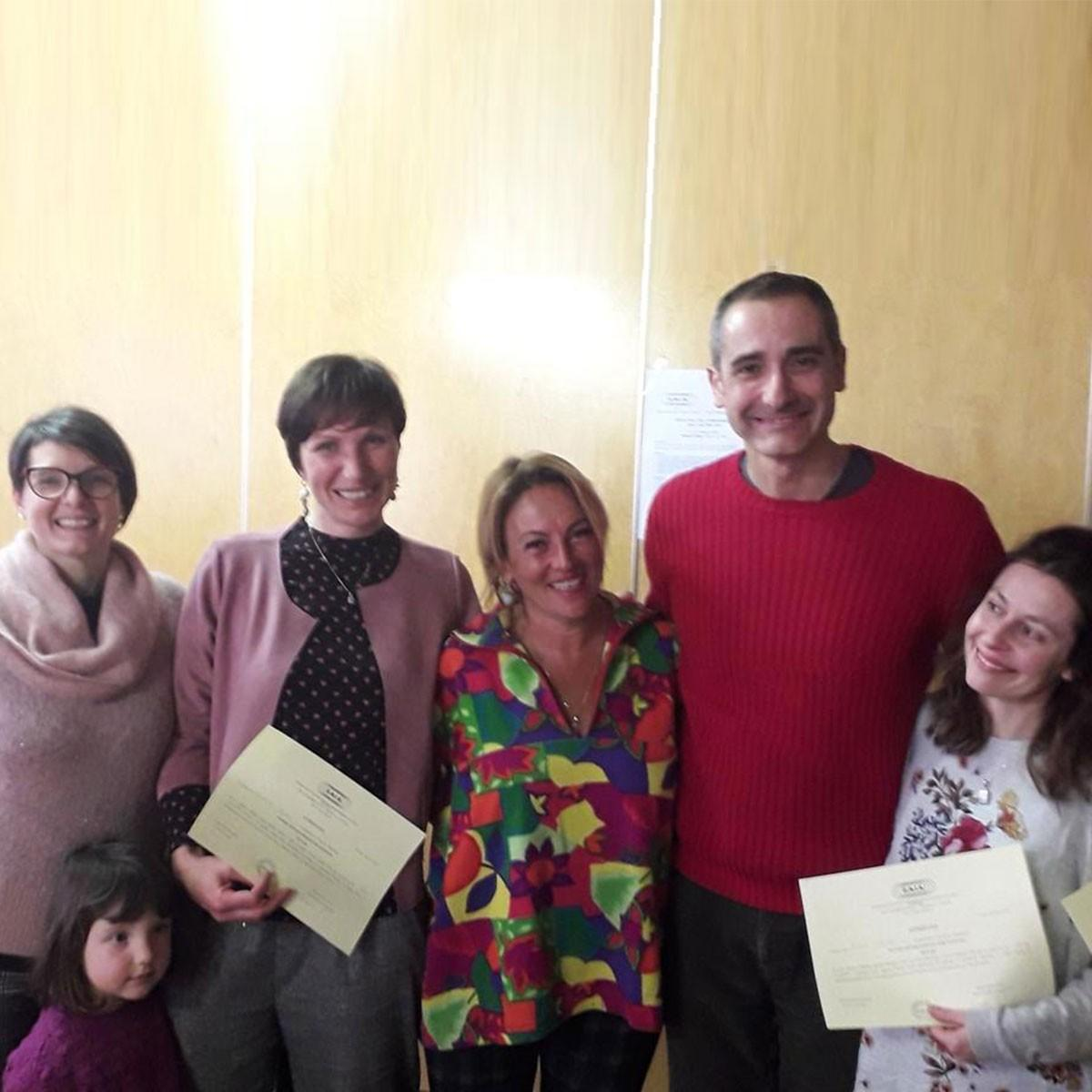Parte del team di Biella Cresce insieme a Daniela Lucangeli dopo aver conseguito i diplomi a Nevegal