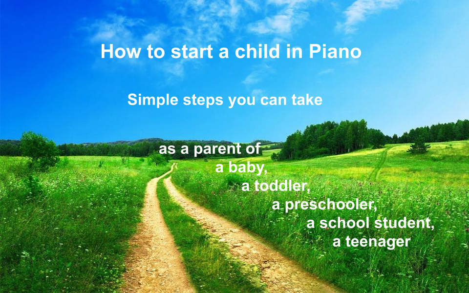 How to start a child in piano