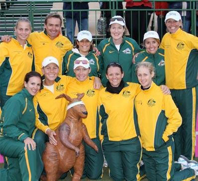 IMAGE OF AUSTRALIAN FED CUP TEAM TENNIS FITNESS