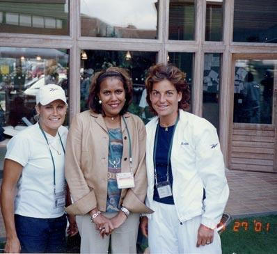 IMAGE OF CATHY FREEMAN TENNIS FITNESS
