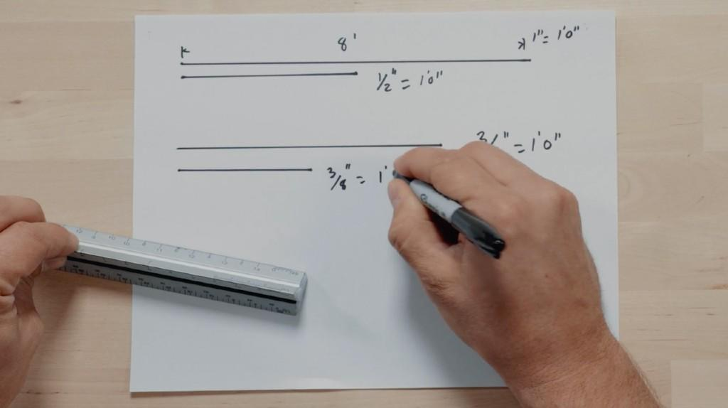 Architect's Ruler for scales and measurement
