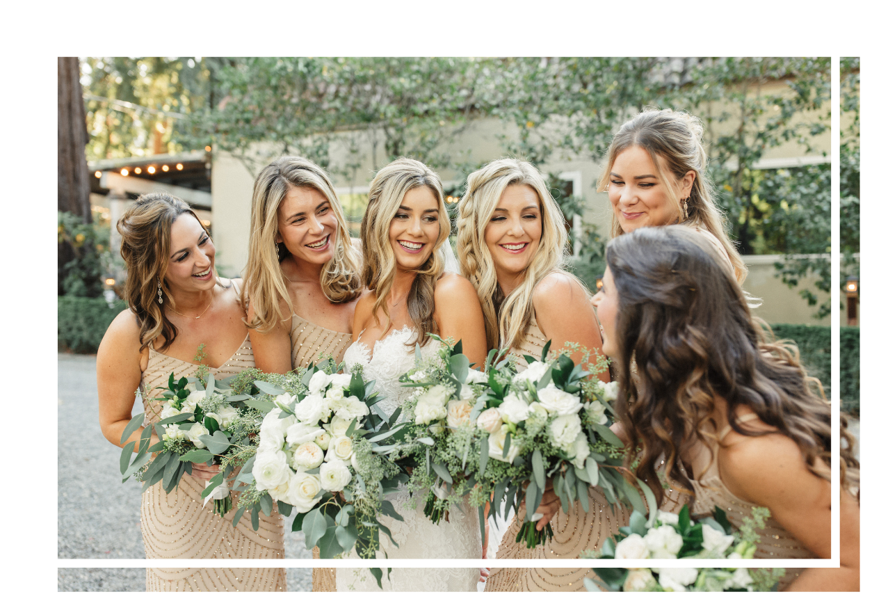 St James Salon bridal party
