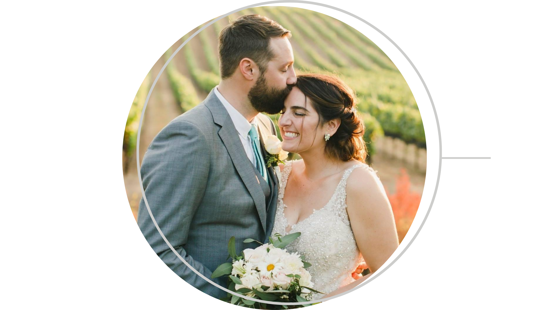 St James Salon Napa County bride