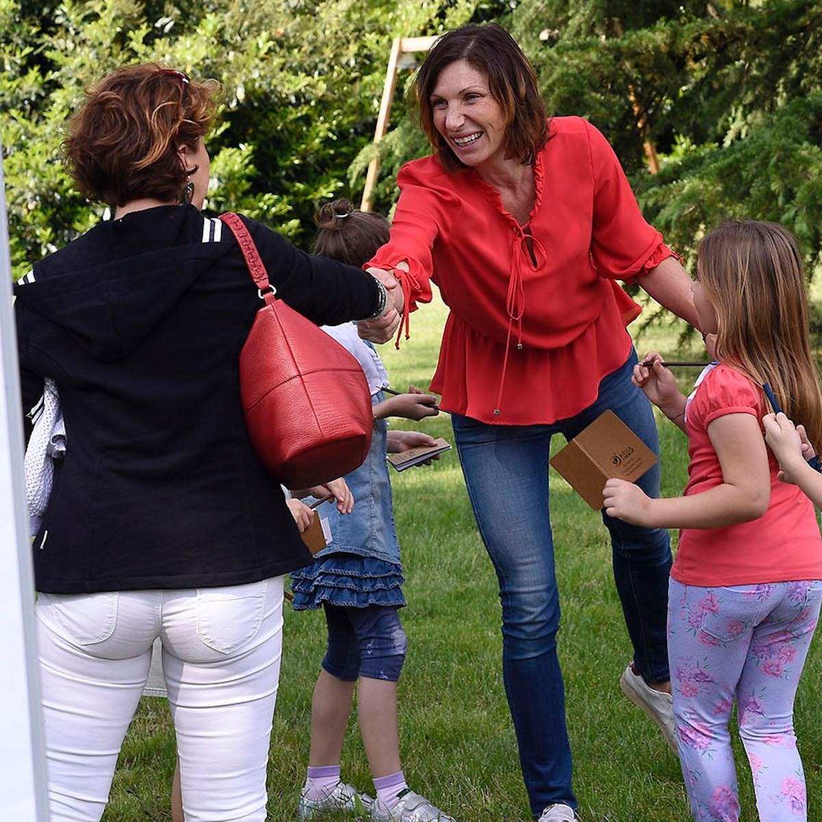 La tutor Valeria Rosso incontra un genitore