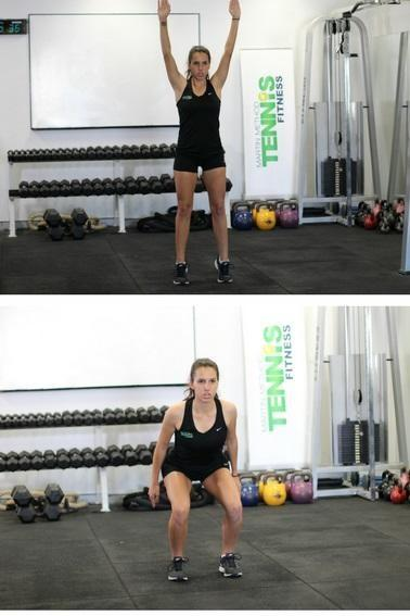 IMAGE OF TENNIS EXERCISE WORKOUT