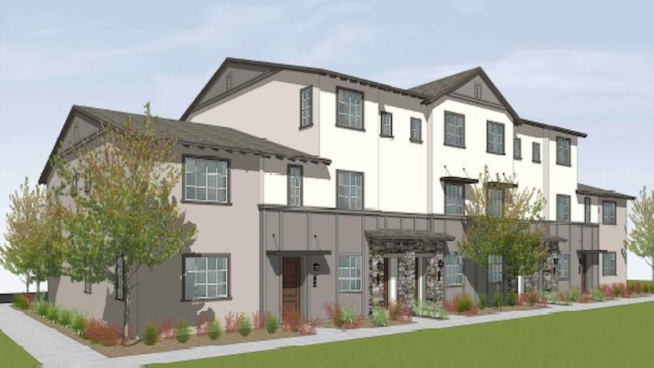 sixplex rendering for the Hayden Farms Multifamily units