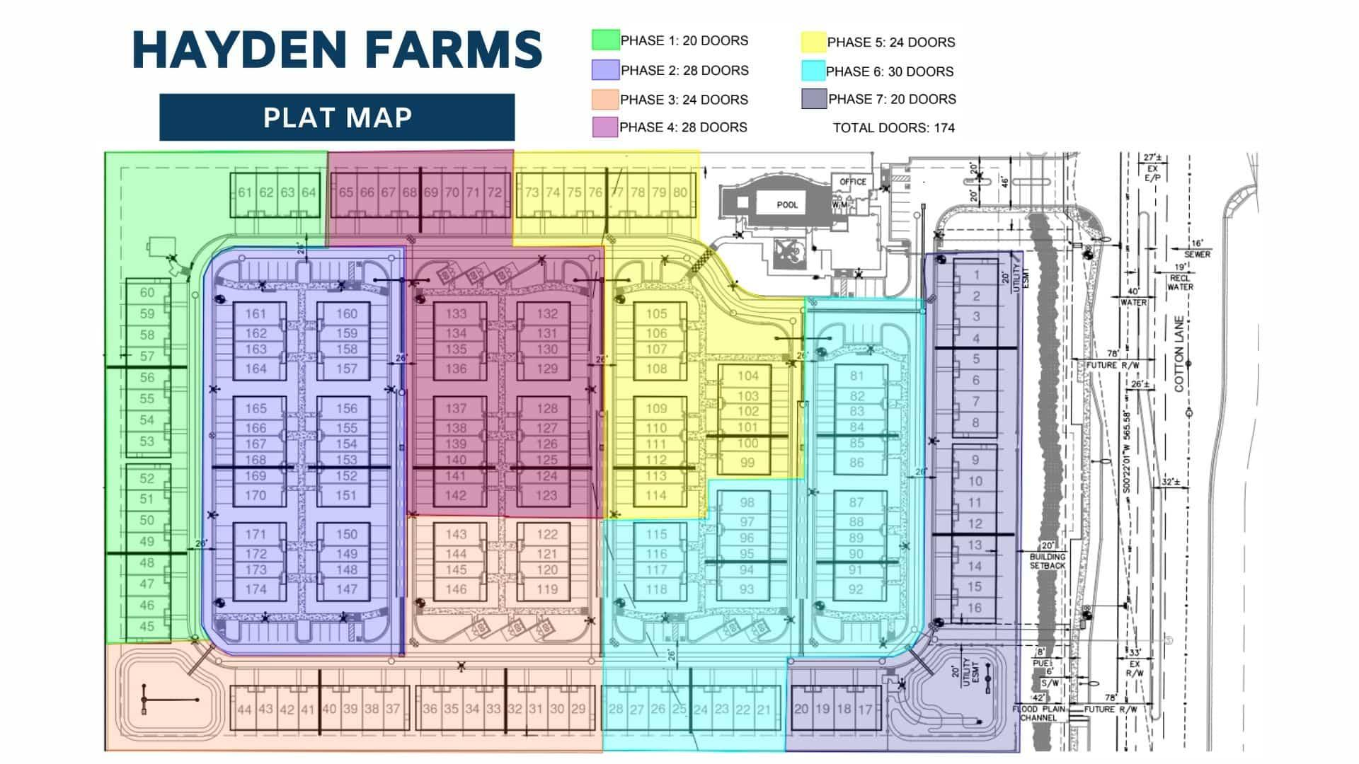 reservation map for multifamily for sale at Hayden Farms