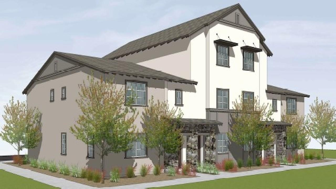 Rendering of the Tucker fourplex floorplan for sale