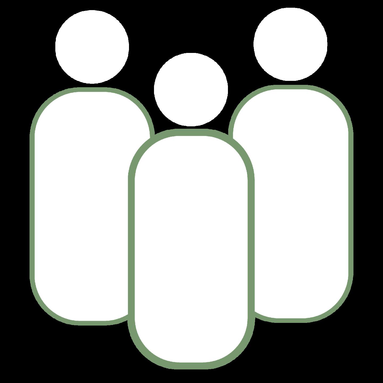 Organic Conceptions Community White Icon