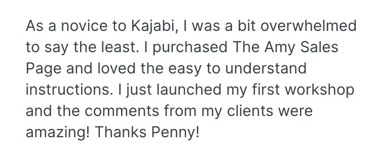 Kajabi Template Review by Teri Healy