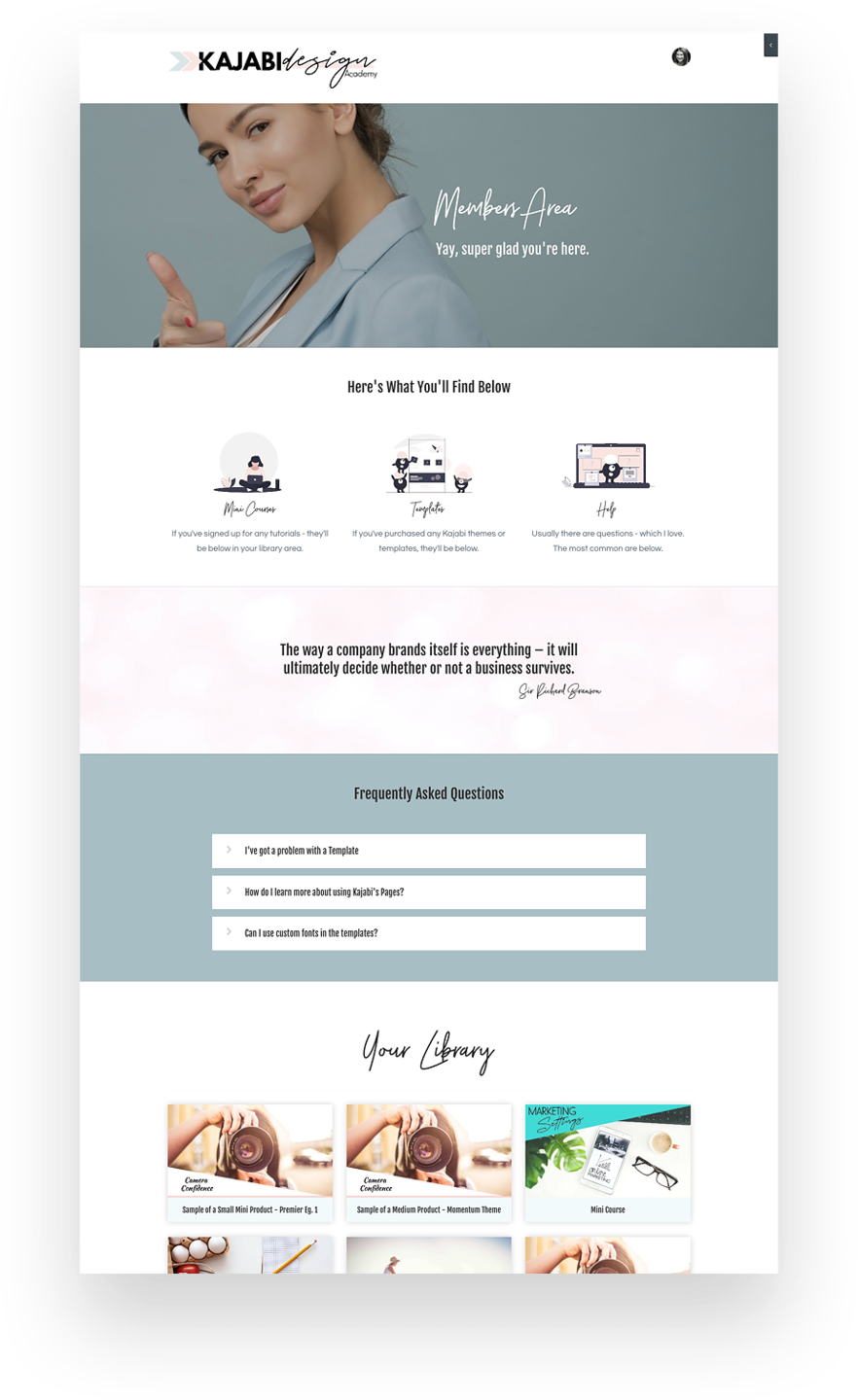 Penny In Your Pocket - Kajabi Website Design