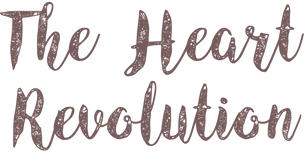 Brown text that says The Heart Revolution