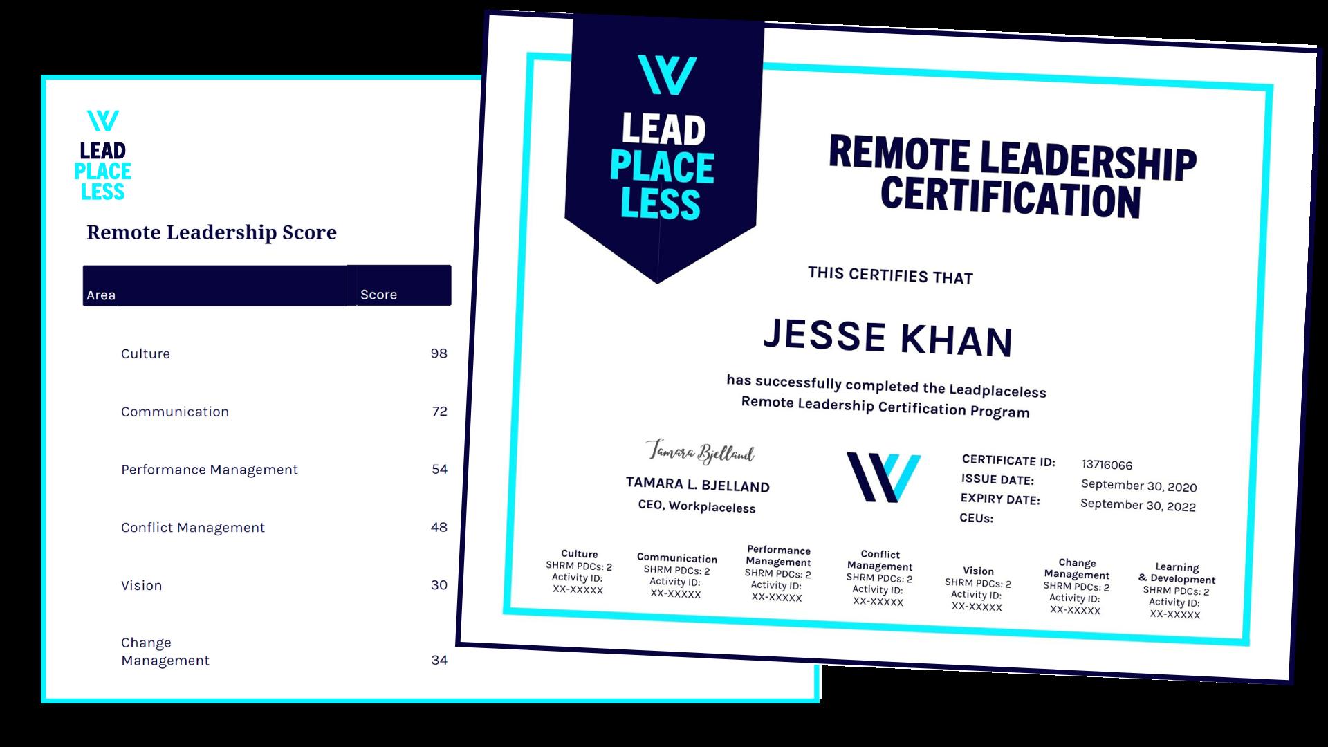Leadplaceless Certificate Example