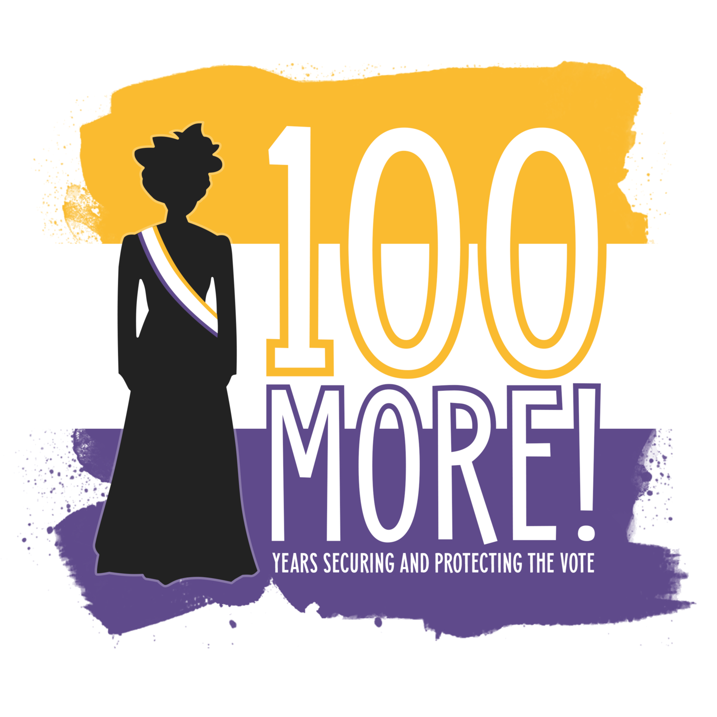 100 More years securing and protecting the vote suffragist graphic
