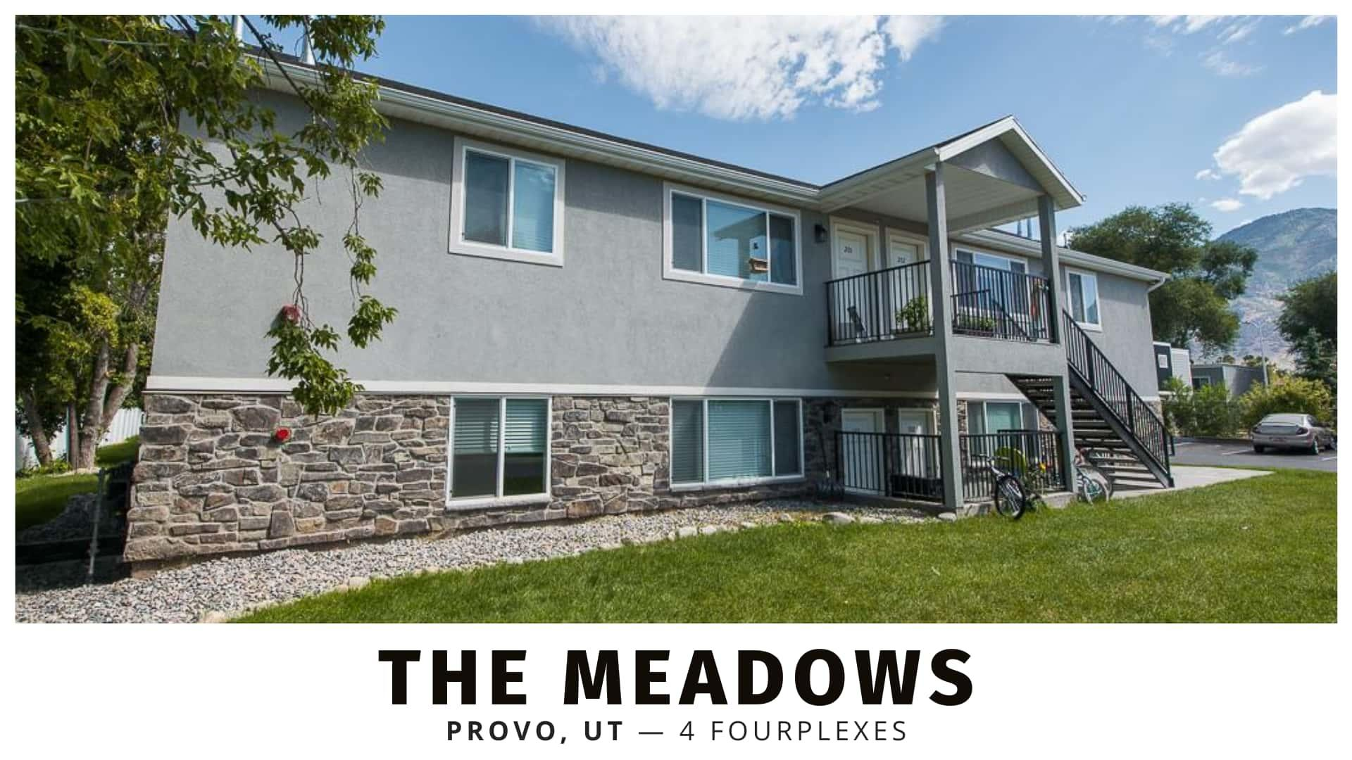 The Meadows fourplexes in Provo, Utah