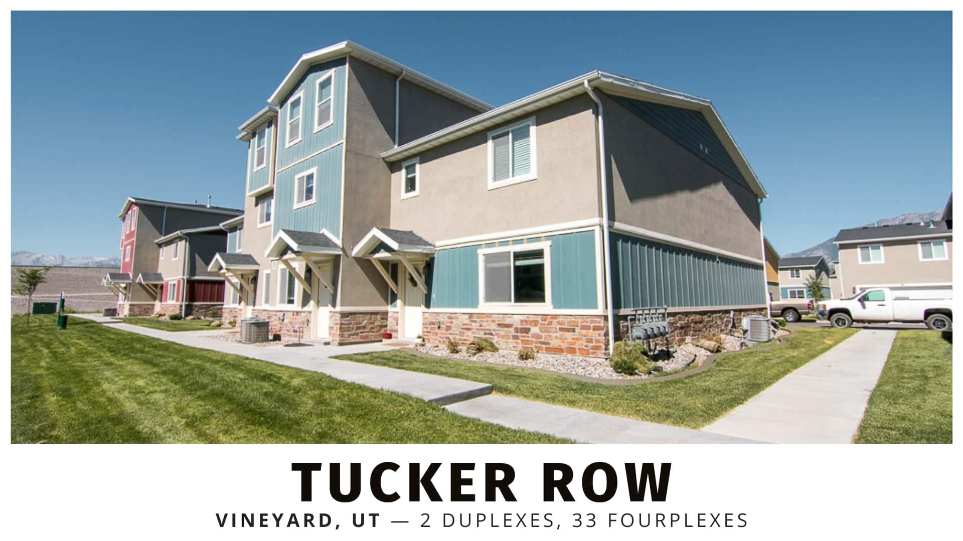 Tucker Row duplexes and fourplexes in Utah County
