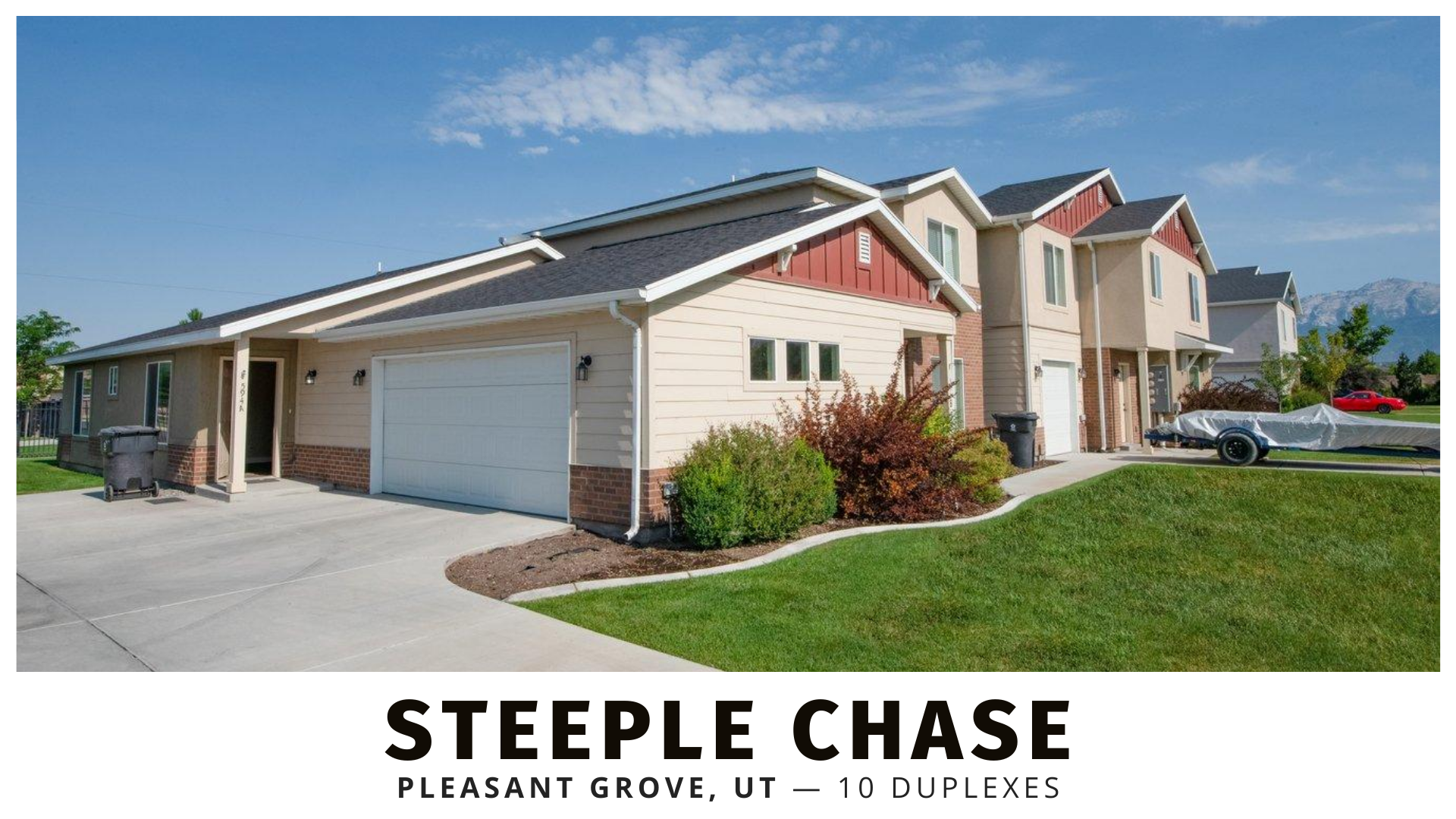 Steeple Chase duplexes in Pleasant Grove, Utah