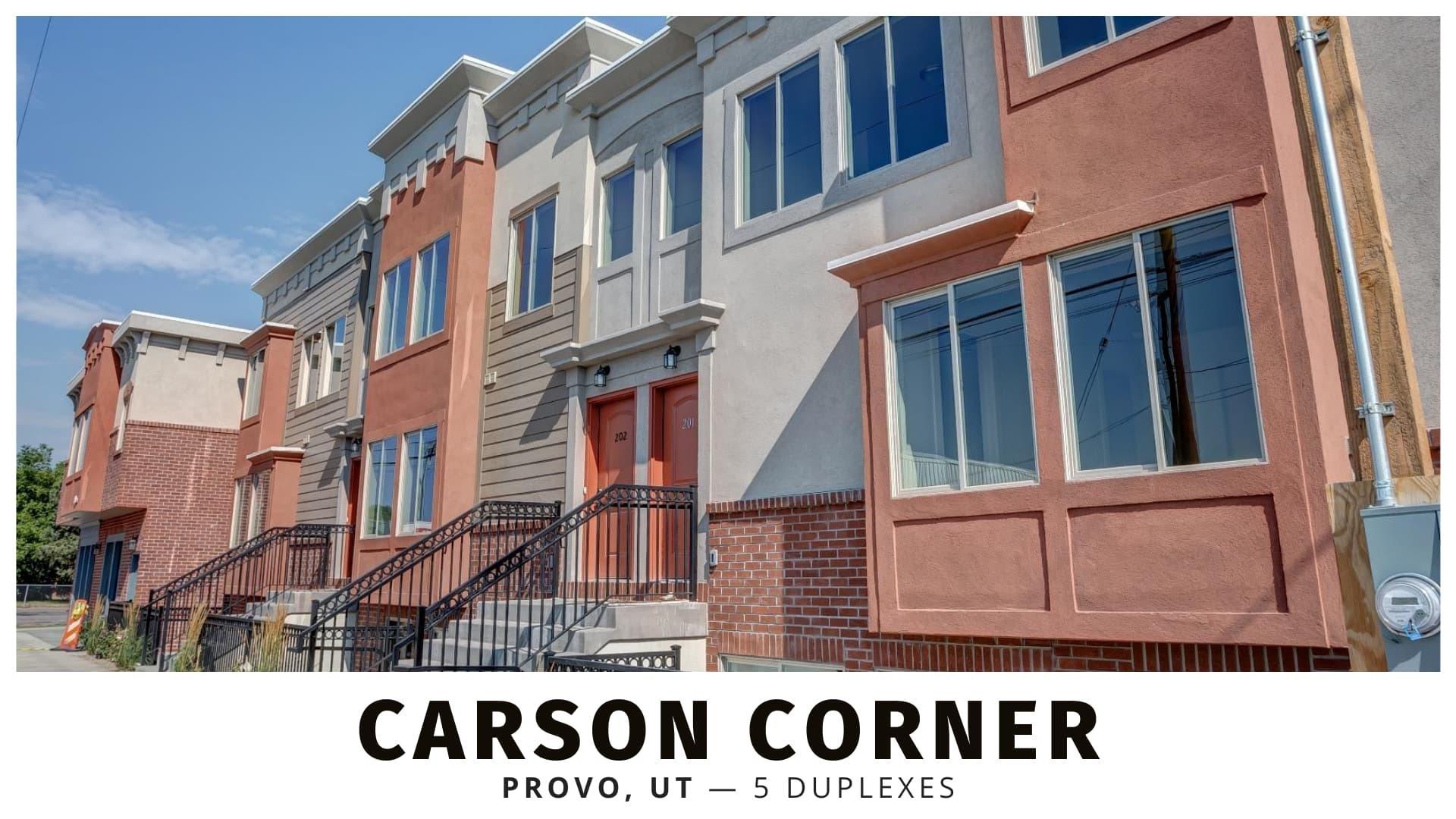 Carson Corner Duplexes in Provo, Utah