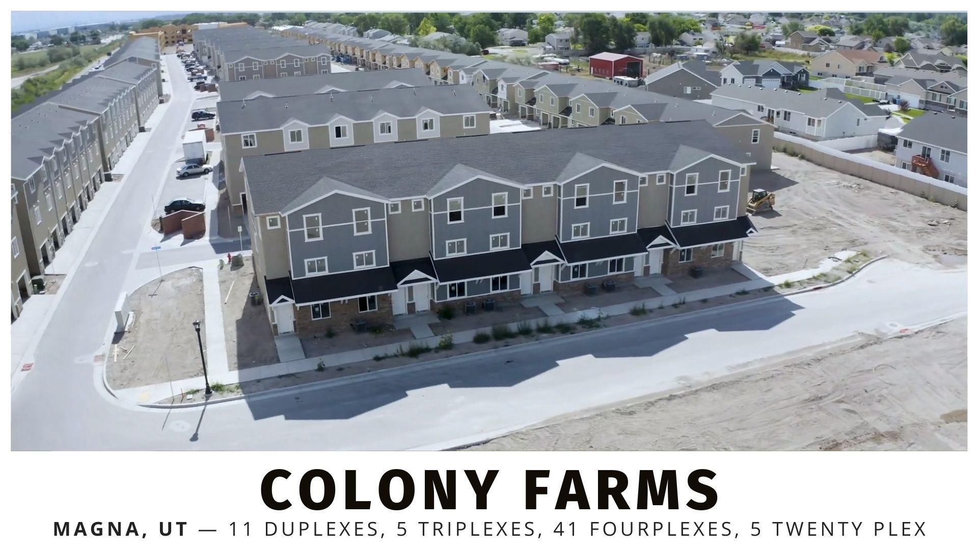 Colony Farms Development in Magna, Utah