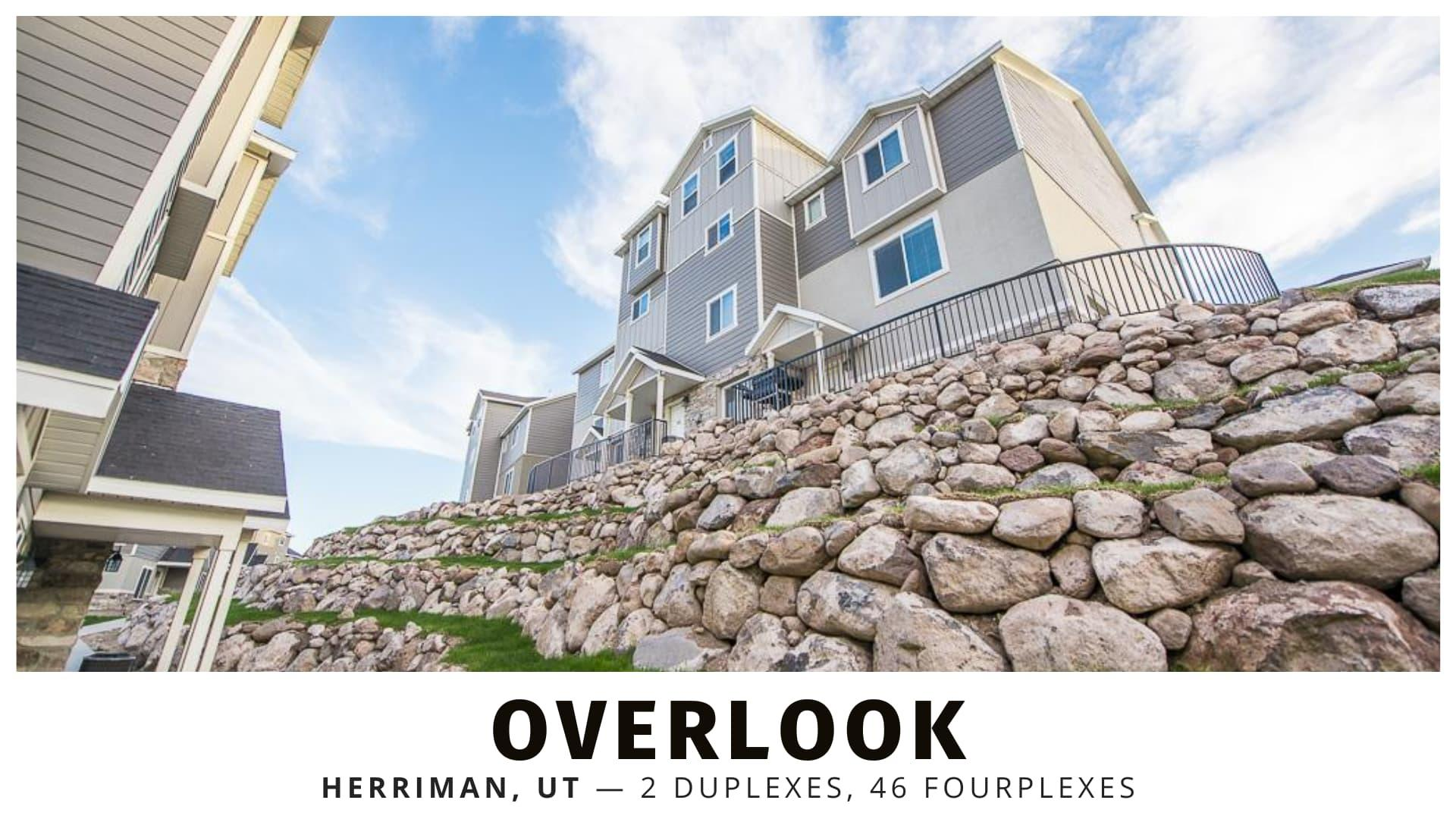 Overlook duplexes and fourplexes for sale in Utah