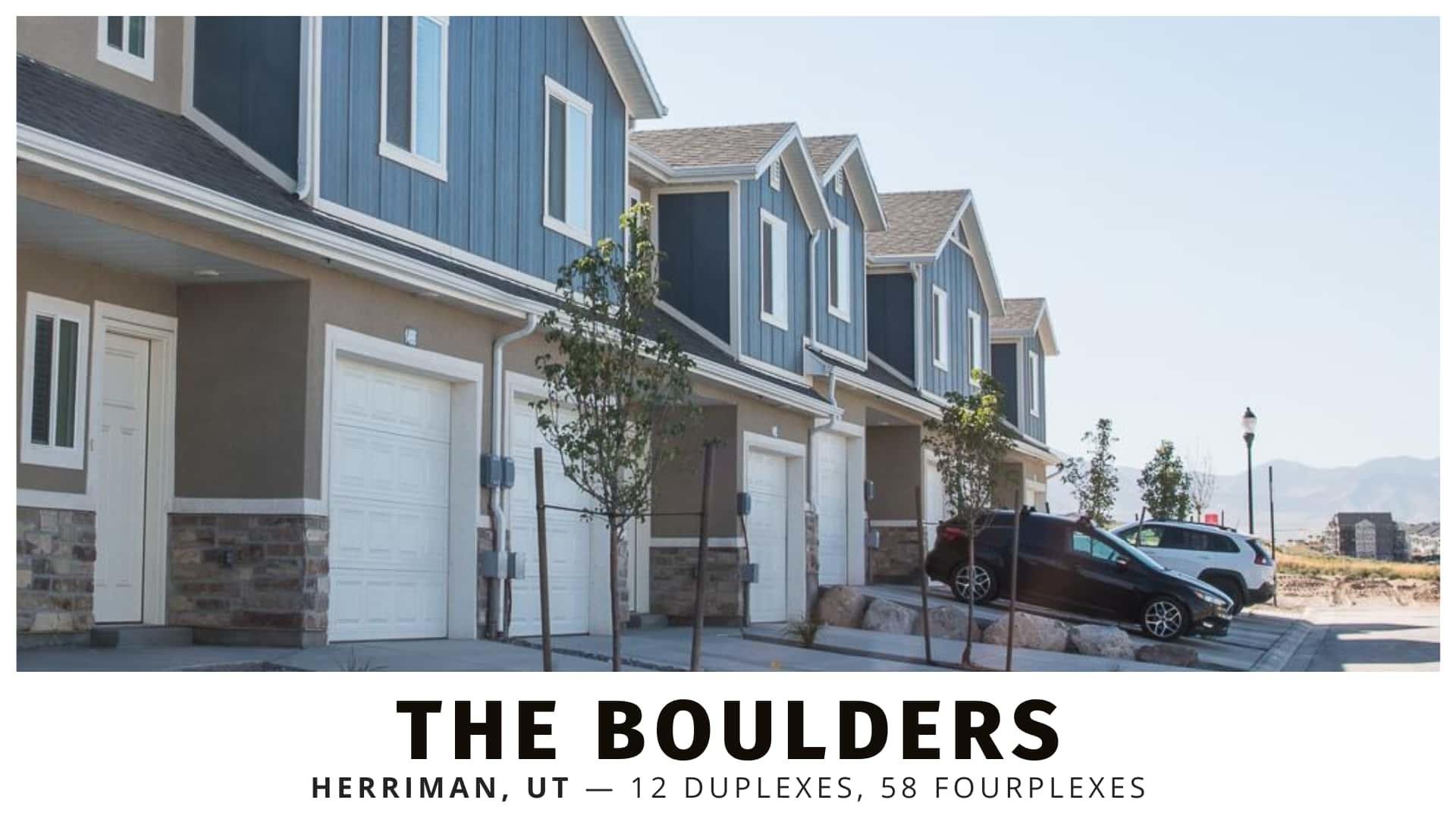 The Boulders duplexes and fourplexes for sale in Herriman, Utah