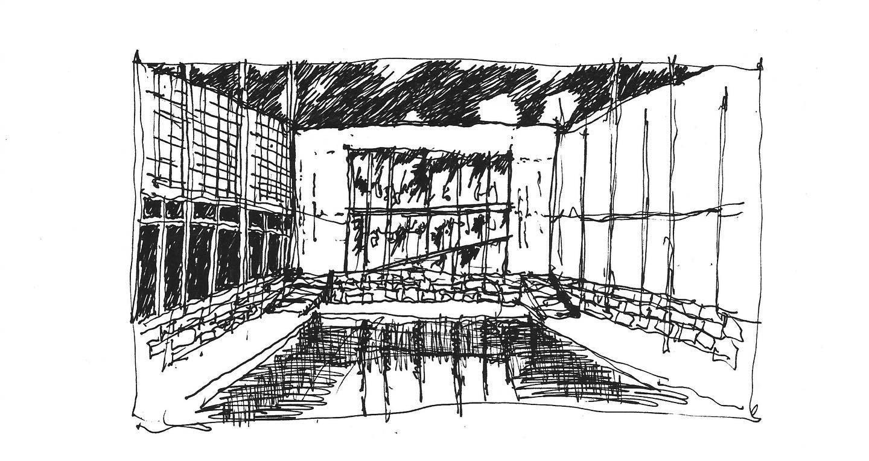 theinkspiredlife ink sketch of concept house
