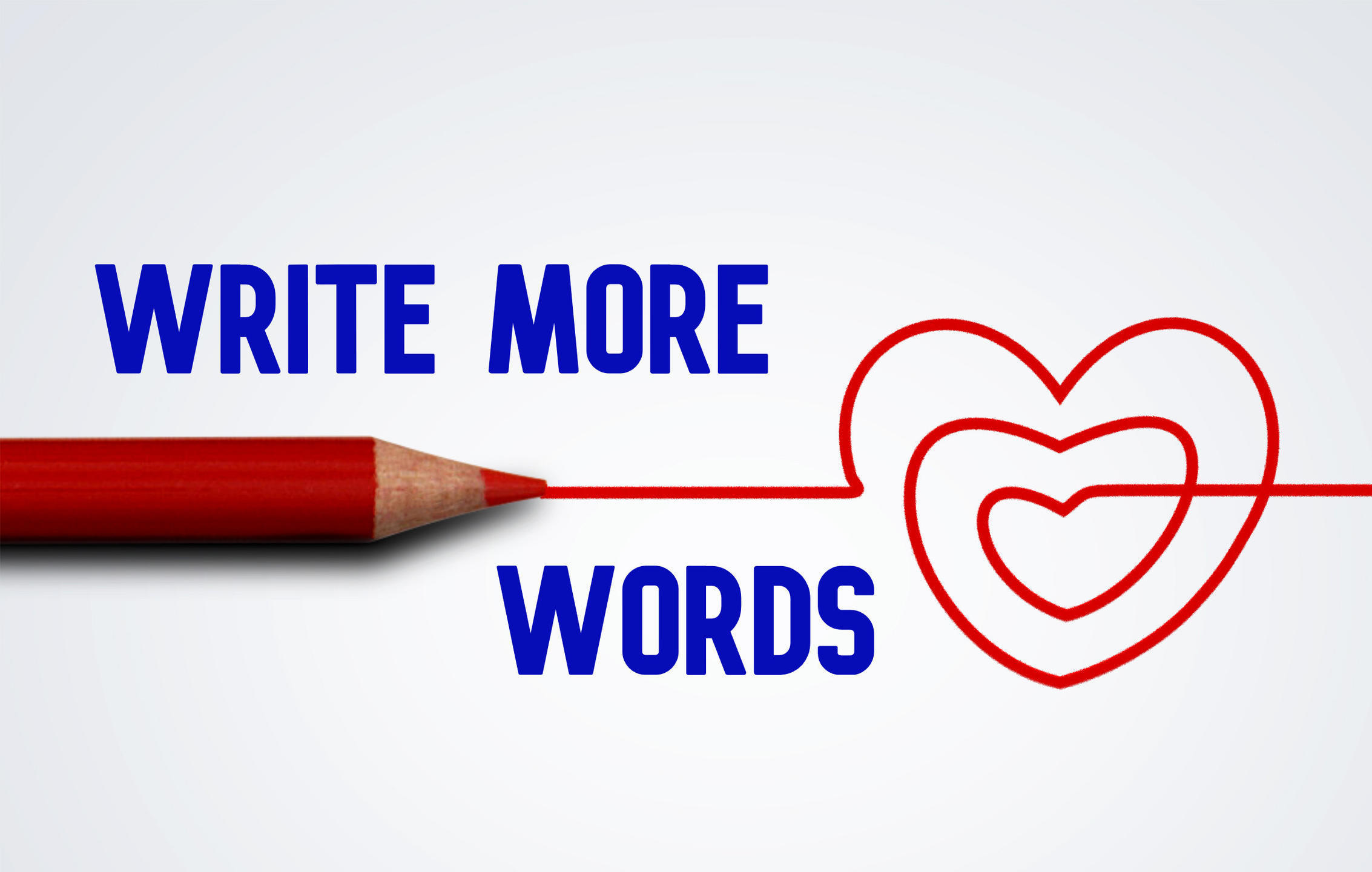 Write More Words heart logo