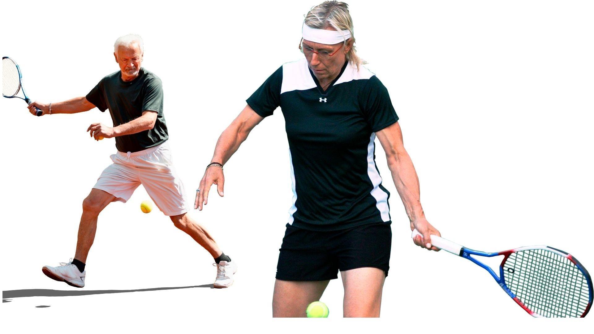Image of Senior Tennis Workout