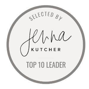 Annie Bauer has been named a Top Ten Leader by Jenna Kutcher for outstanding service and support, execution and implementation of mastermind products, and the value she brings to the community of digital entrepreneurs and influencers.