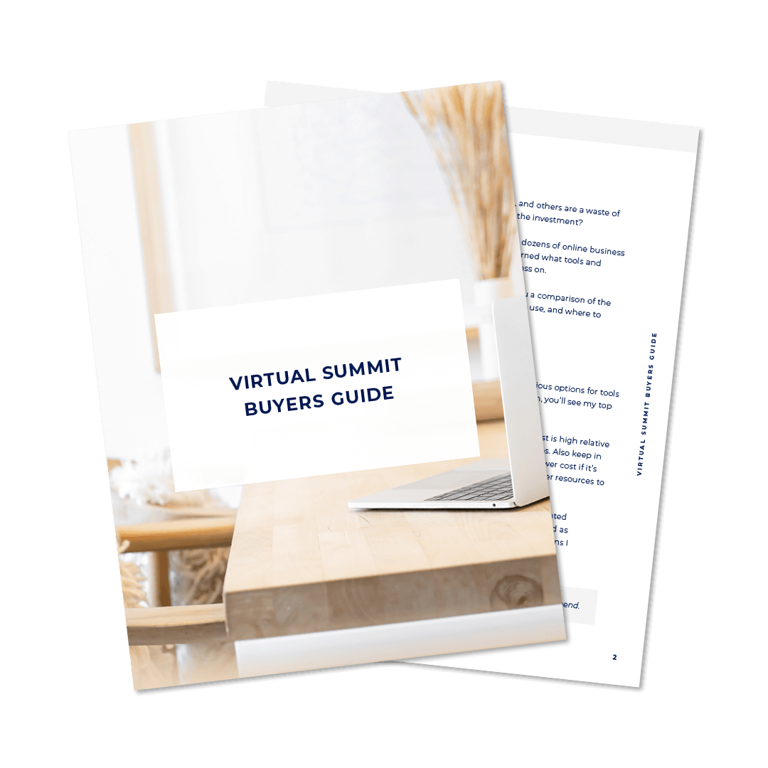 Virtual Summit Buyers Guide