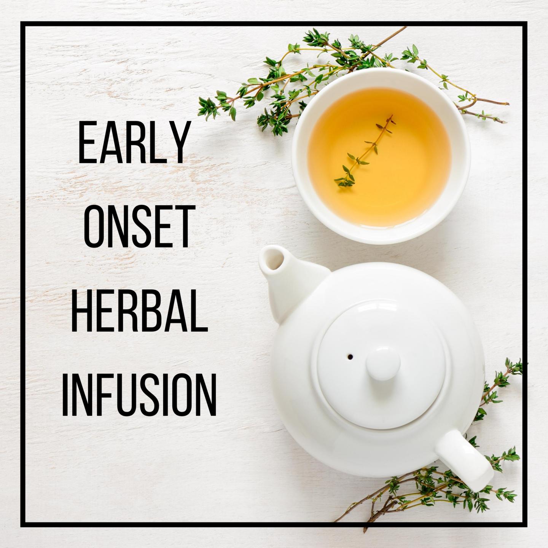 elderflower, yarrow, catnip hot herbal teas