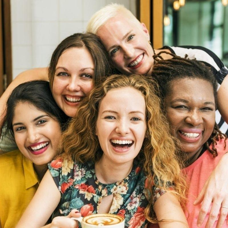 Group of Laughing Women