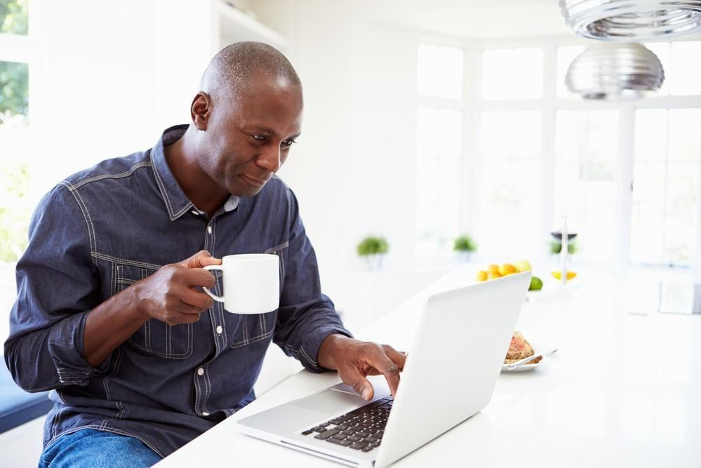 Man Laptop Coffee Leadership Transition