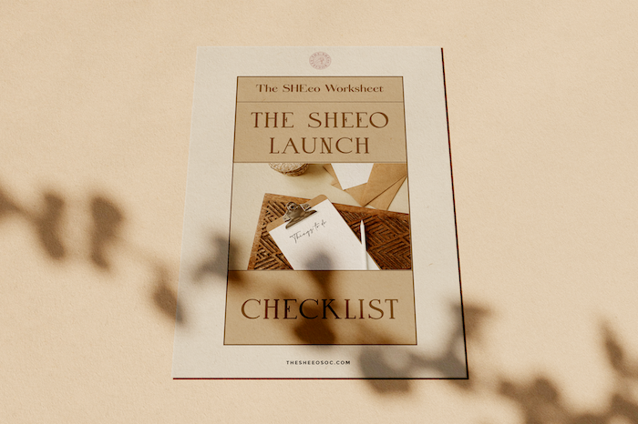 The SHEeo Launch Checklist