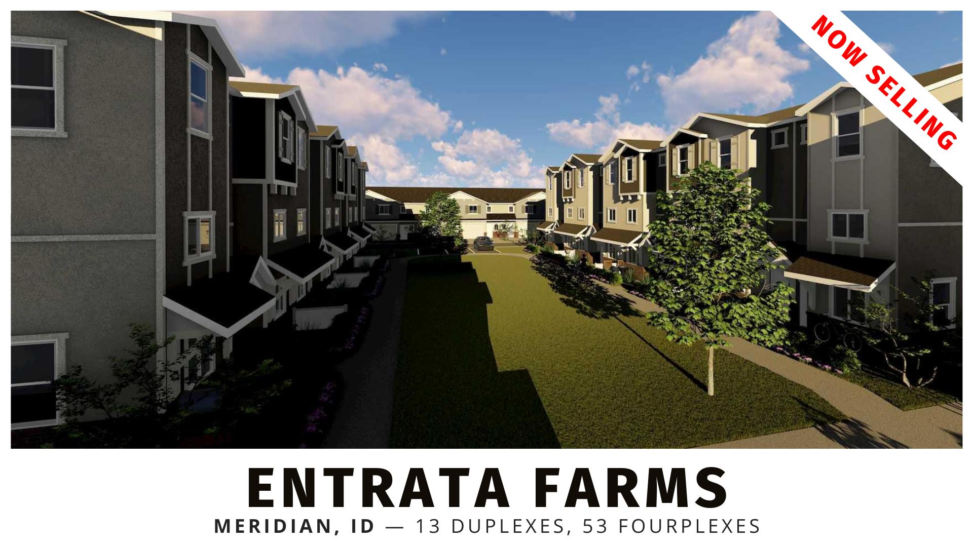 Entrata Farms duplexes and fourplexes for sale in Meridian, Idaho