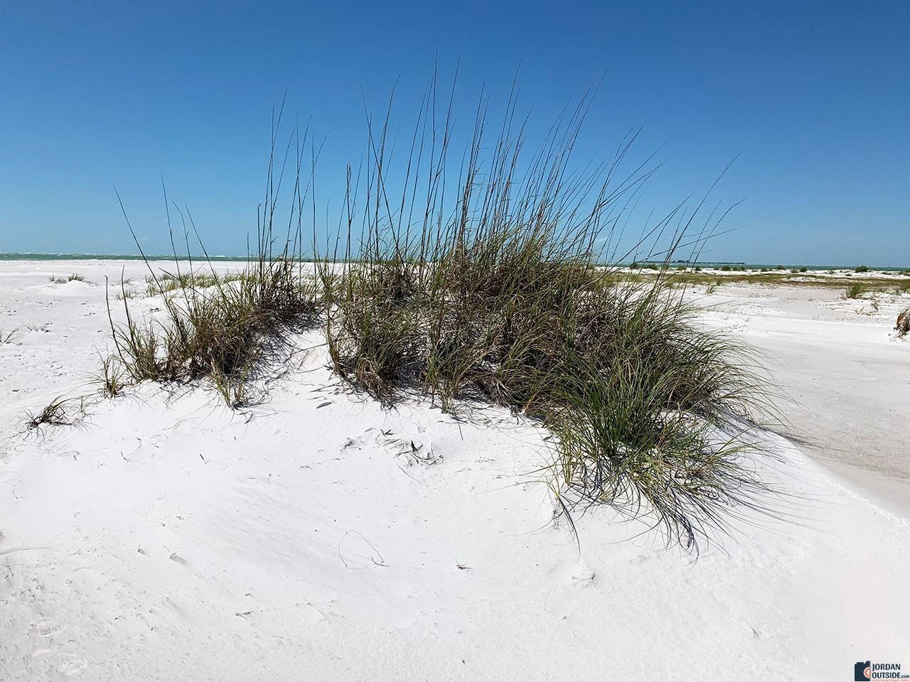 White sand at Bean Point Beach