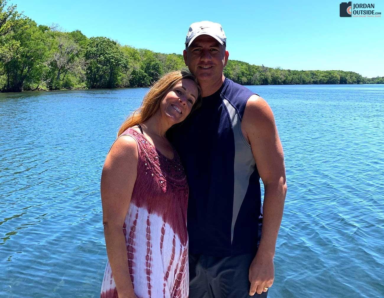 Julie and Jordan at Manatee Springs