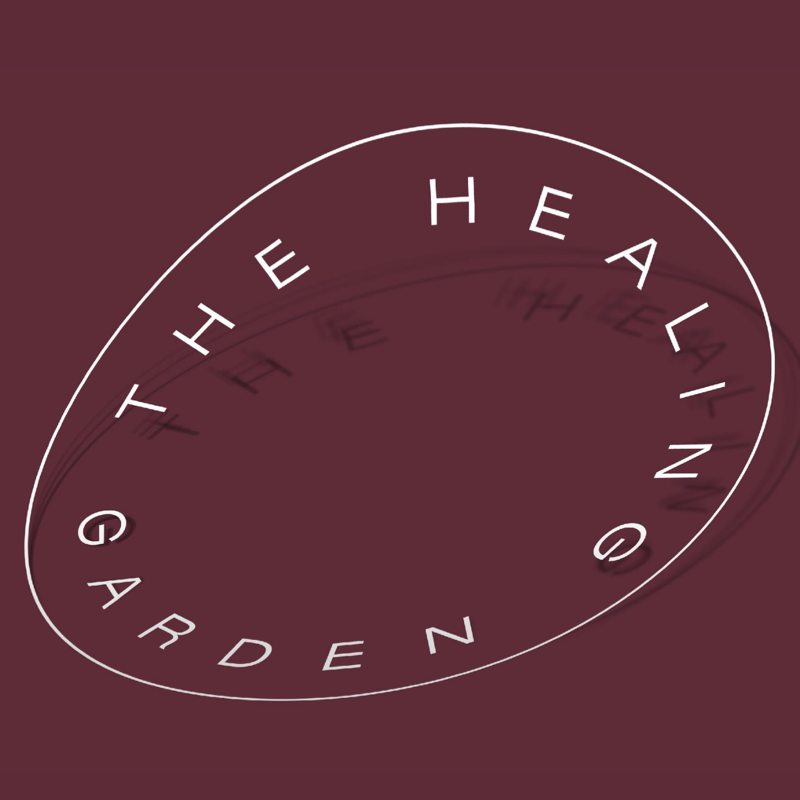 the healing garden visual identity sticker wellness massage brand vero
