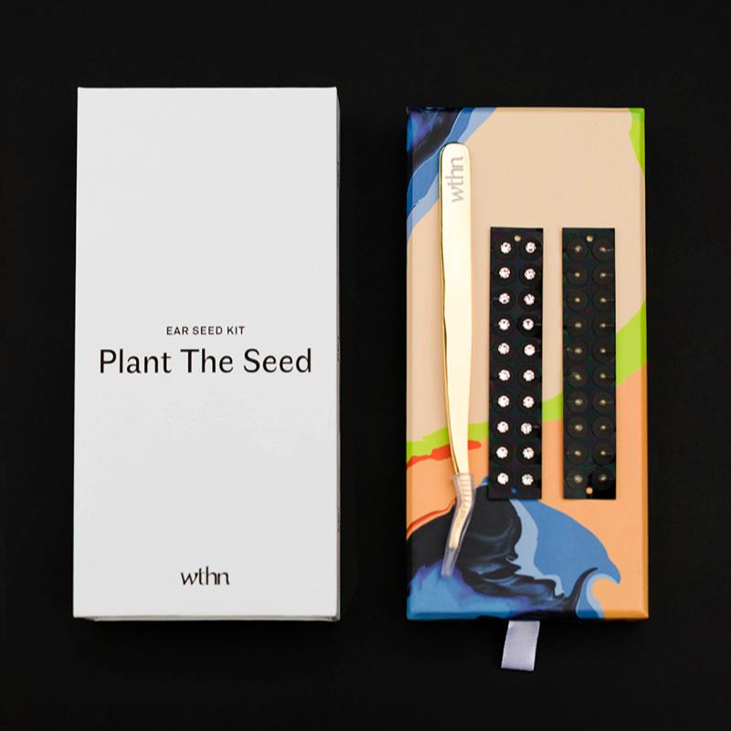wellness branding agency wthn ear seeds packaging design vero branding visual brand presence