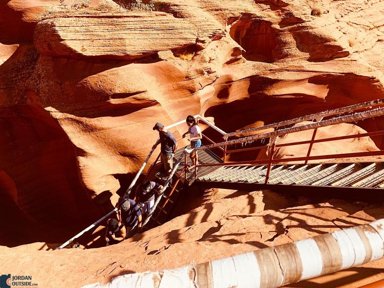 Stairs to Lower Antelope Canyon