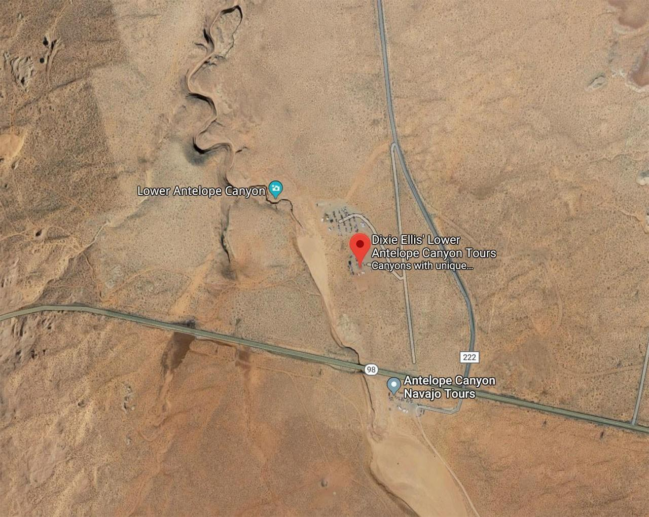 Map of Lower Antelope Canyon