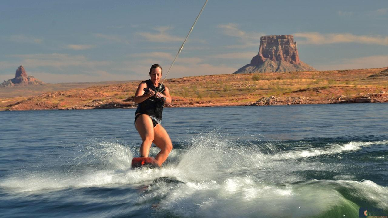 Julie Wakeboarding at Lake Powell