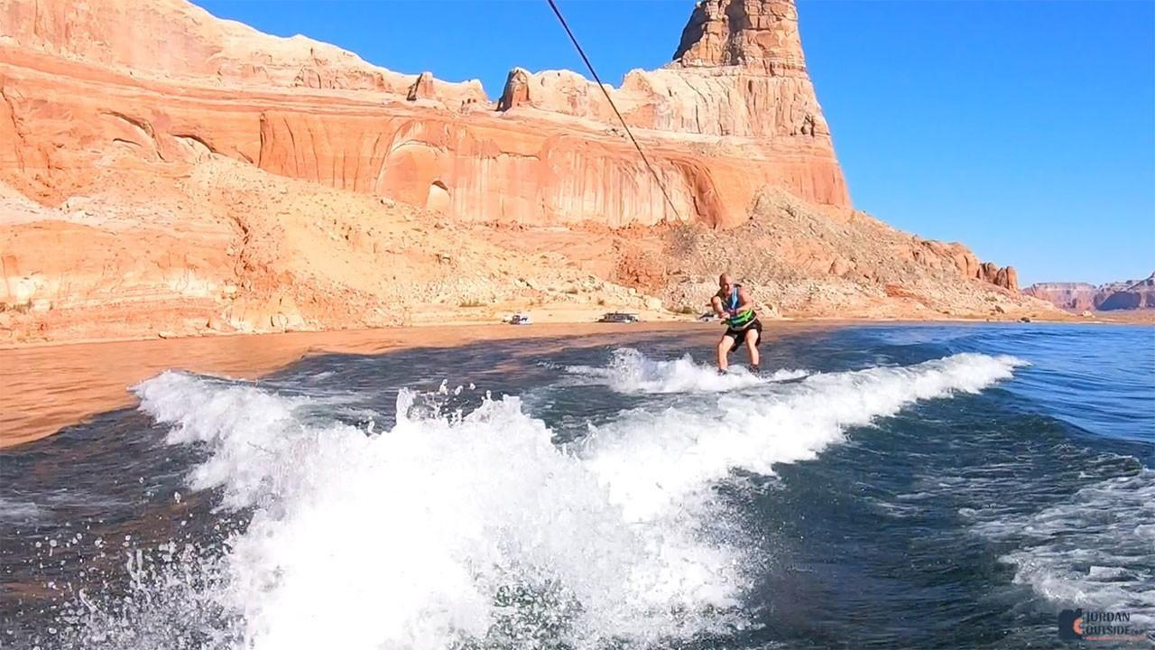 Jordan Wakeboarding at Lake Powell