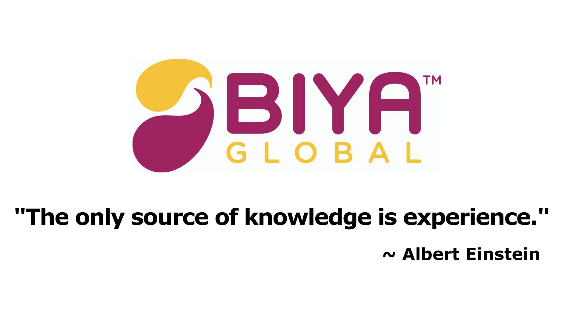 BIYA Global Logo, Einstein Quote