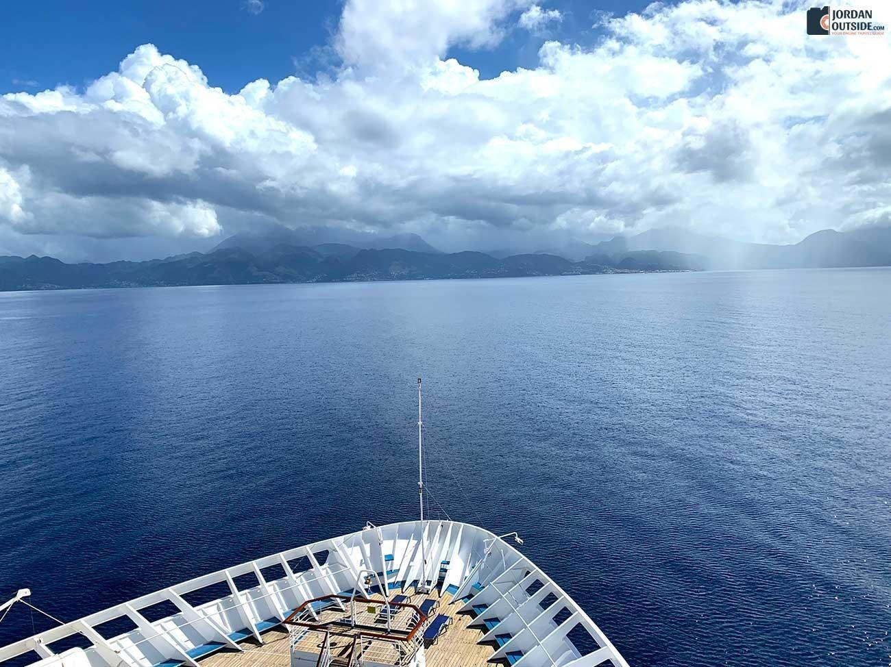 View of Dominica from the cruise ship