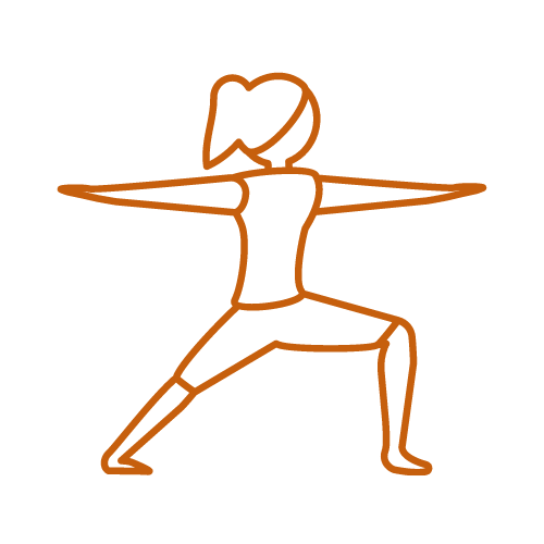 warrior II Yoga pose for Yoga on-demand