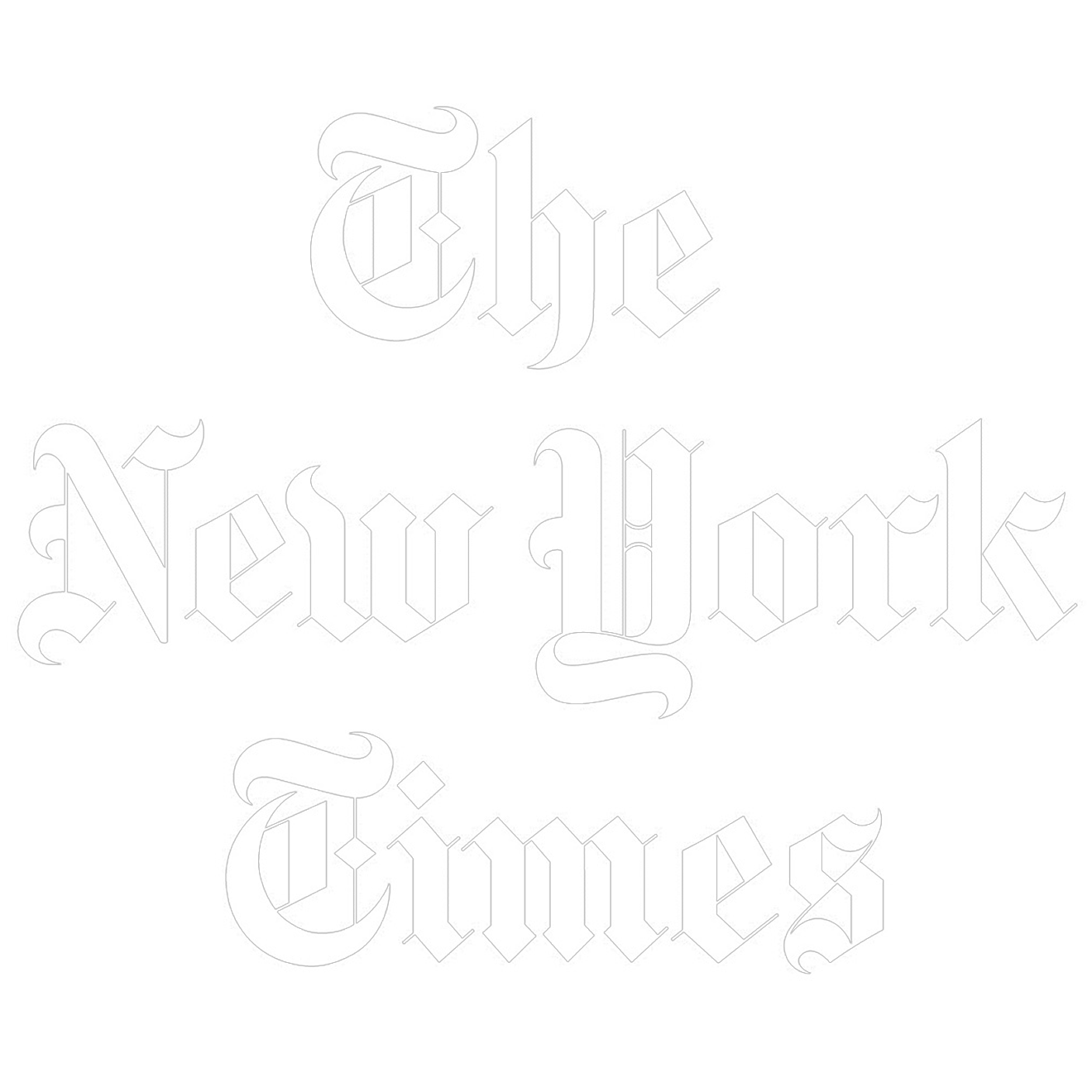 new york times logo white