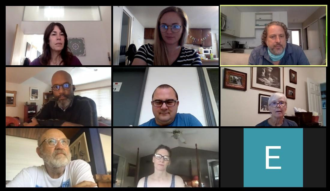 writing class on zoom with brad wetzler