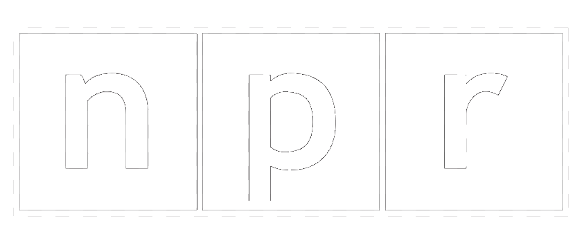 npr logo white