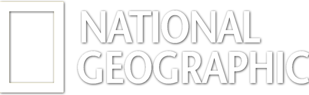 national geographic logo white